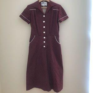 Vivien of Holloway 1940's Style Tea Dress